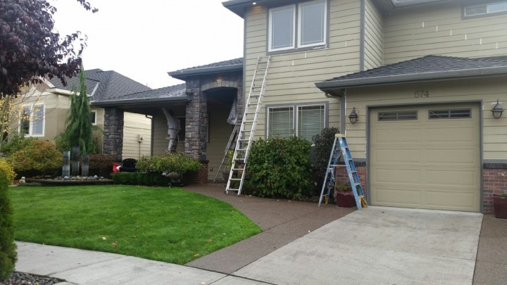 Before Exterior House Painting in Ridgefield, WA