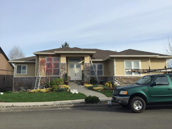 Before Exterior Painting of Trim in Ridgefield, WA